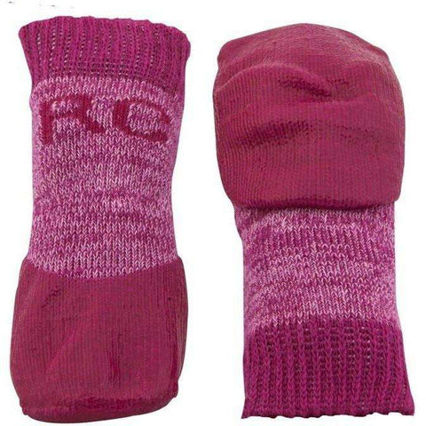 Pawks Sport Indoor/Outdoor Socks Pink Heather, Dog Clothing, Spring Collection - PetMax Canada