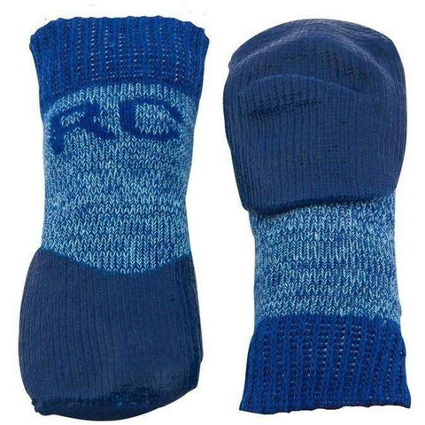 Pawks Sport Indoor/Outdoor Socks Blue Heather, Dog Clothing, Spring Collection - PetMax