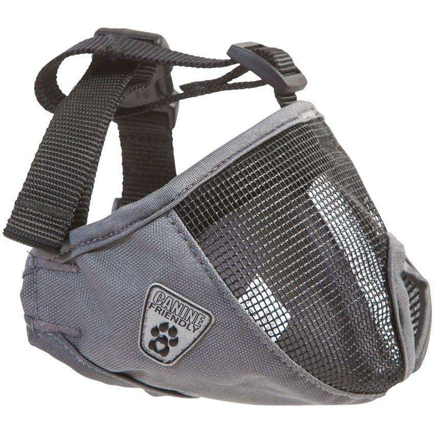 "Canine Equipment Short Snout Muzzle Training Products 9"" - 12"" / Charcoal 9"" - 12"" - PetMax.ca"