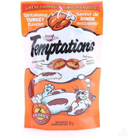 Whiskas Temptations Turkey, Cat Treats, Mars Canada - PetMax
