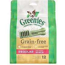 Greenies Grain Free Dental Treats Regular, Dog Treats, Greenies - PetMax Canada