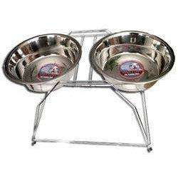 Double Diner Tall Dog Dish | Dog Dishes -  pet-max.myshopify.com