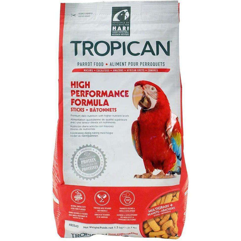 Tropican Parrot High Performance Bird Food [variant_title] [option1] - PetMax.ca