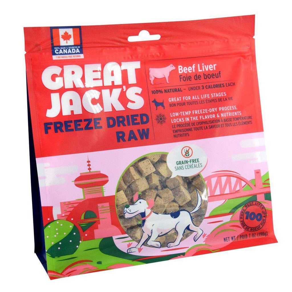Great Jacks Freeze Dried Dog Treats Beef Liver  Dog Treats - PetMax