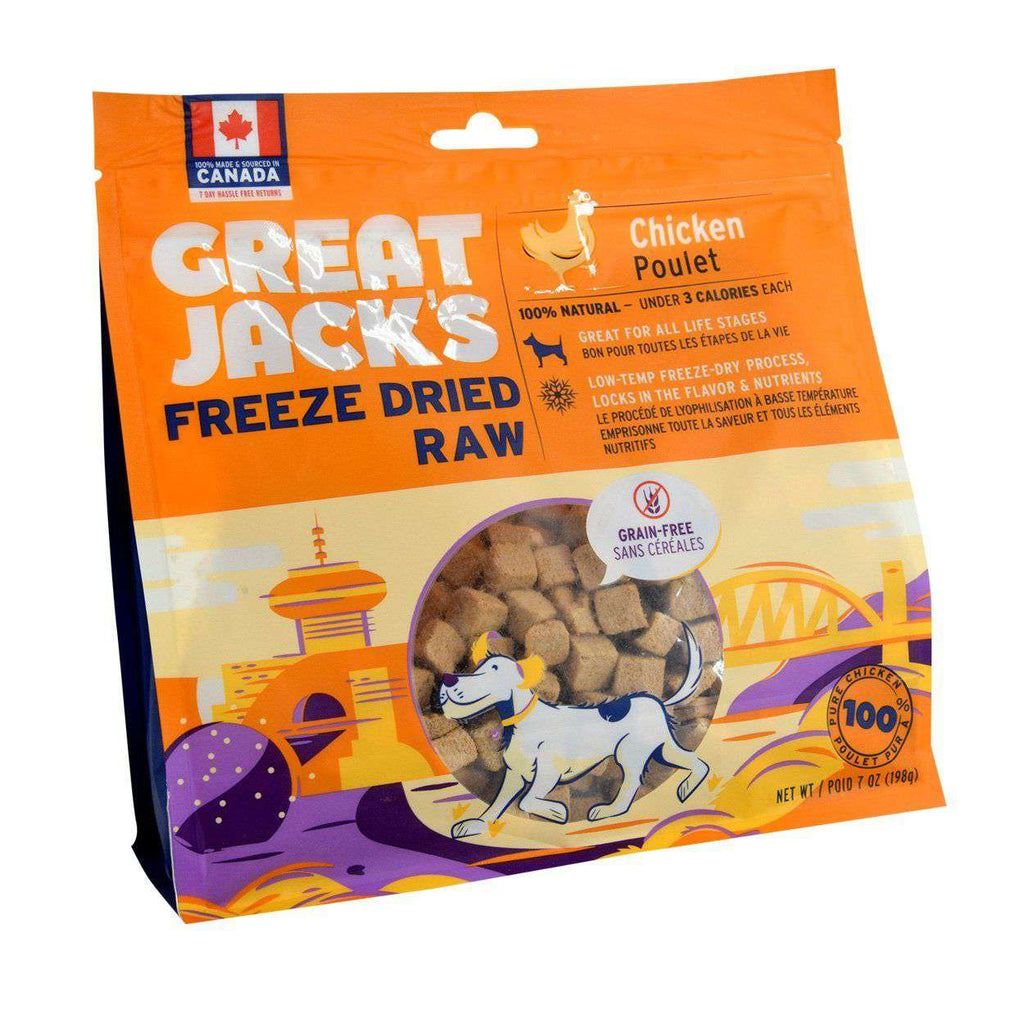 Great Jacks Freeze Dried Dog Treats Chicken  Dog Treats - PetMax
