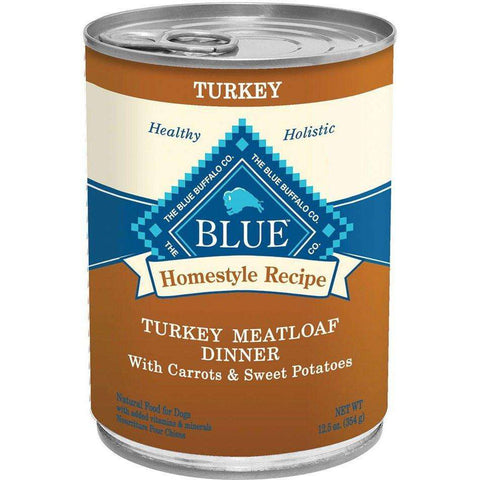 Blue Buffalo Homestyle Canned Dog Food Turkey Meatloaf, Canned Dog Food, Blue Buffalo Company - PetMax