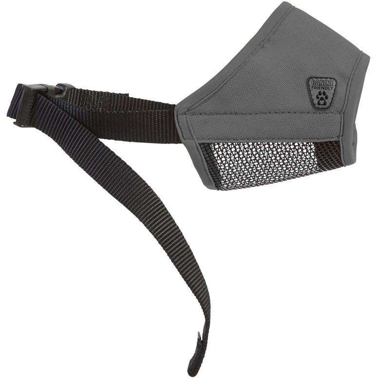 "Canine Equipment Soft Fit Muzzle Training Products 3"" / Charcoal 3"" - PetMax.ca"