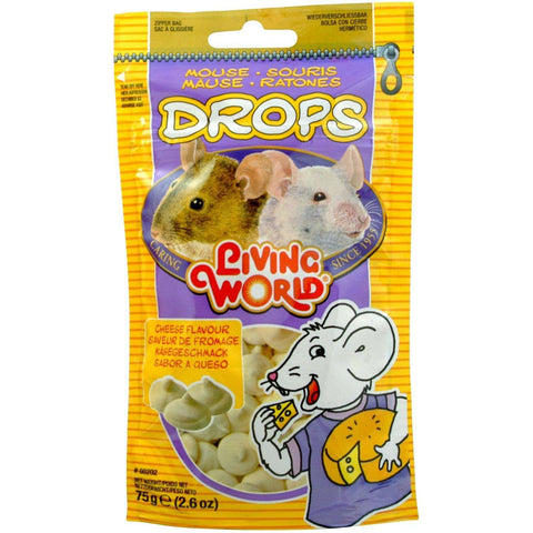 Living World Mouse Treat Cheese Flavour, Small Animal Food Treats, Rolf C Hagen Inc. - PetMax