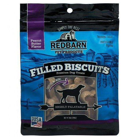 Red Barn Filled Biscuits Peanut Butter, Chew Products, Red Barn Pet Products - PetMax