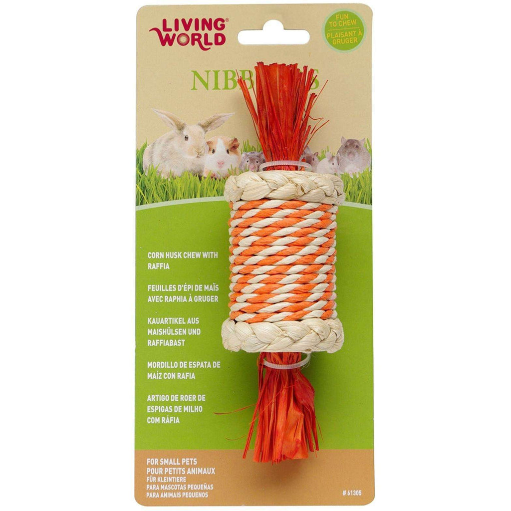 Living World Nibblers Candy Corn Husk Chew Small Animal Chew Products [variant_title] [option1] - PetMax.ca