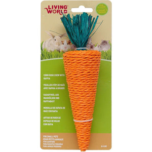 Living World Nibblers Carrot Corn Husk Chew  Small Animal Chew Products - PetMax