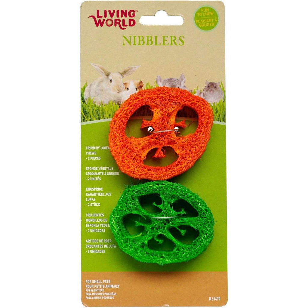 Living World Nibblers Slices Loofah Chews Small Animal Chew Products [variant_title] [option1] - PetMax.ca