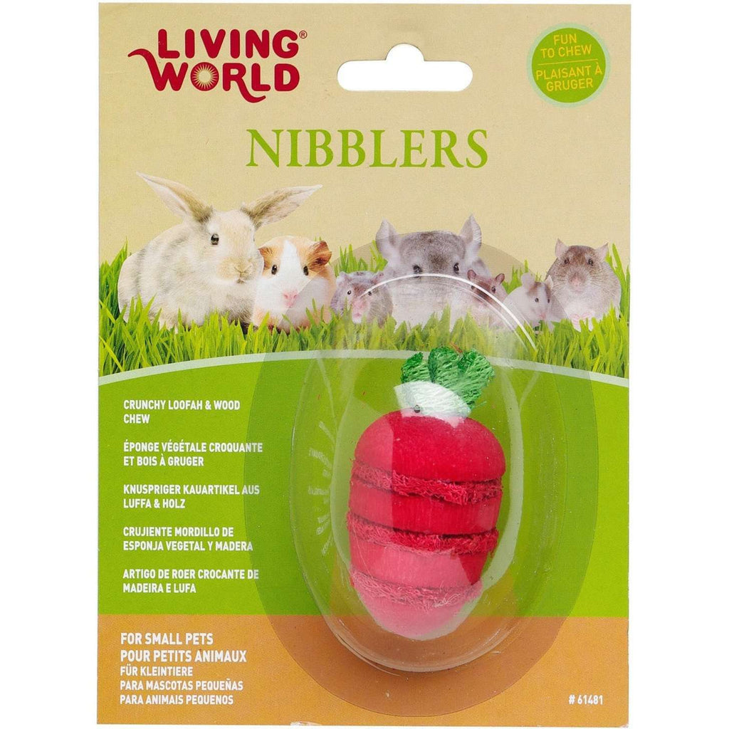 Living World Nibblers Stawberry Loofah & Wood  Small Animal Chew Products - PetMax