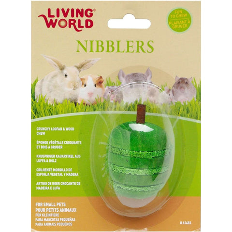Living World Nibblers Apple Loofah & Wood, Small Animal Chew Products, Rolf C Hagen Inc. - PetMax Canada