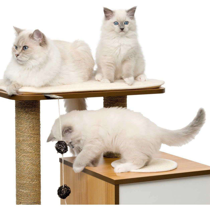 Vesper Cat Furniture V-Base Walnut  Cat Scratching Posts - PetMax