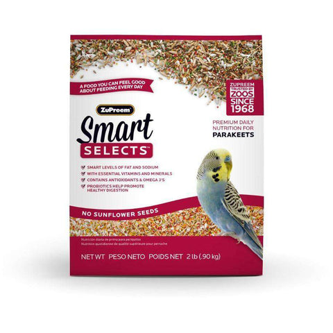 Zupreem Smart Selects Food Parakeet, Bird Food, Zupreem Premium Nutritional Product - PetMax