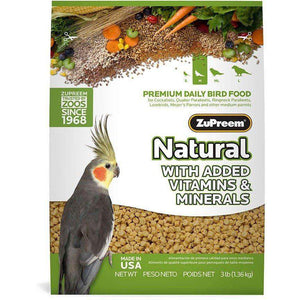 Zupreem Avian Maintenance Natural Cockatiel  Bird Food - PetMax