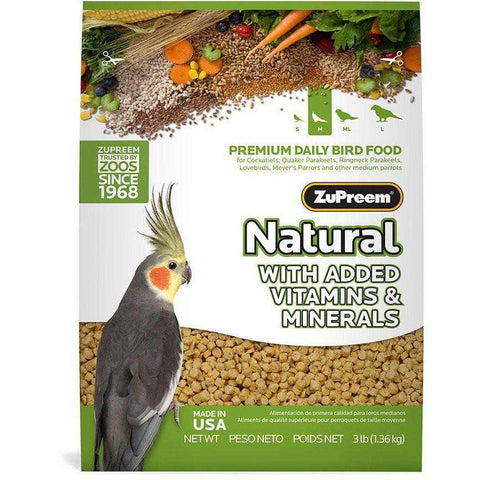 Zupreem Avian Maintenance Natural Cockatiel, Bird Food, Zupreem Premium Nutritional Product - PetMax