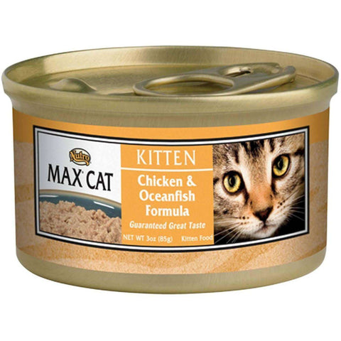 Max Canned Kitten Food Chicken & Oceanfish, Canned Cat Food, Nutro Pet Products - PetMax