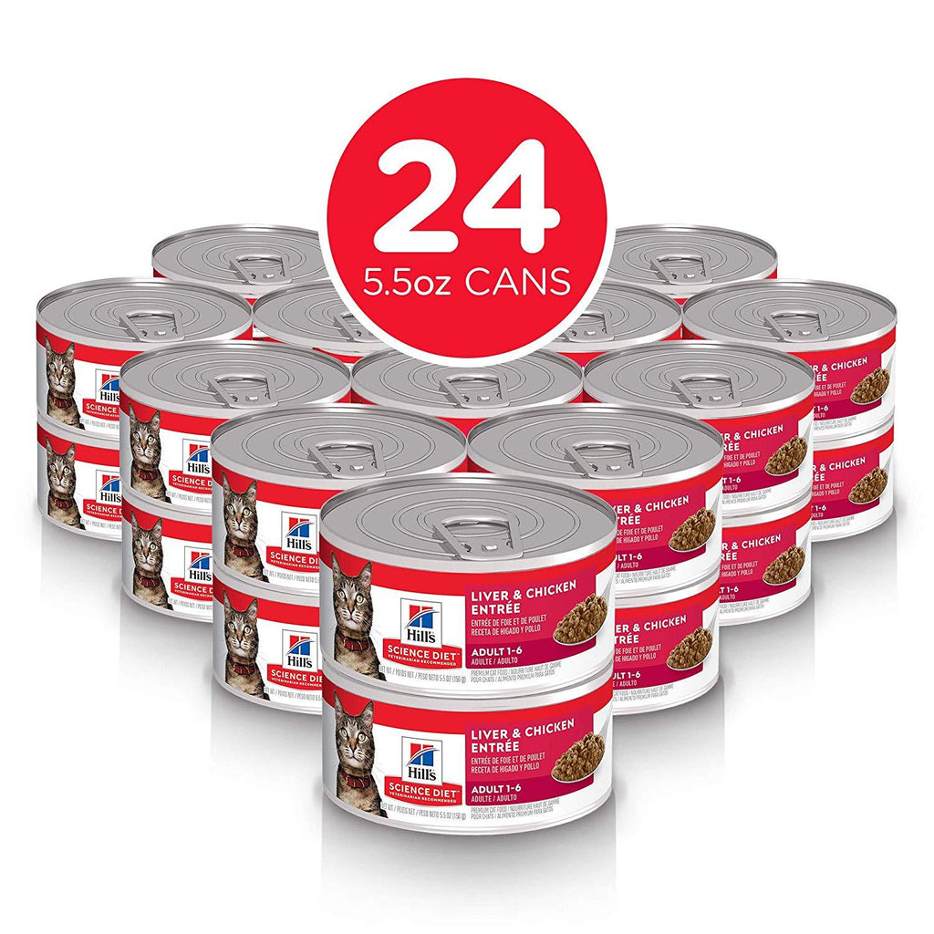 Hill's Science Diet Adult Liver & Chicken Canned Cat Food - Case of 24 Canned Cat Food [variant_title] [option1] - PetMax.ca
