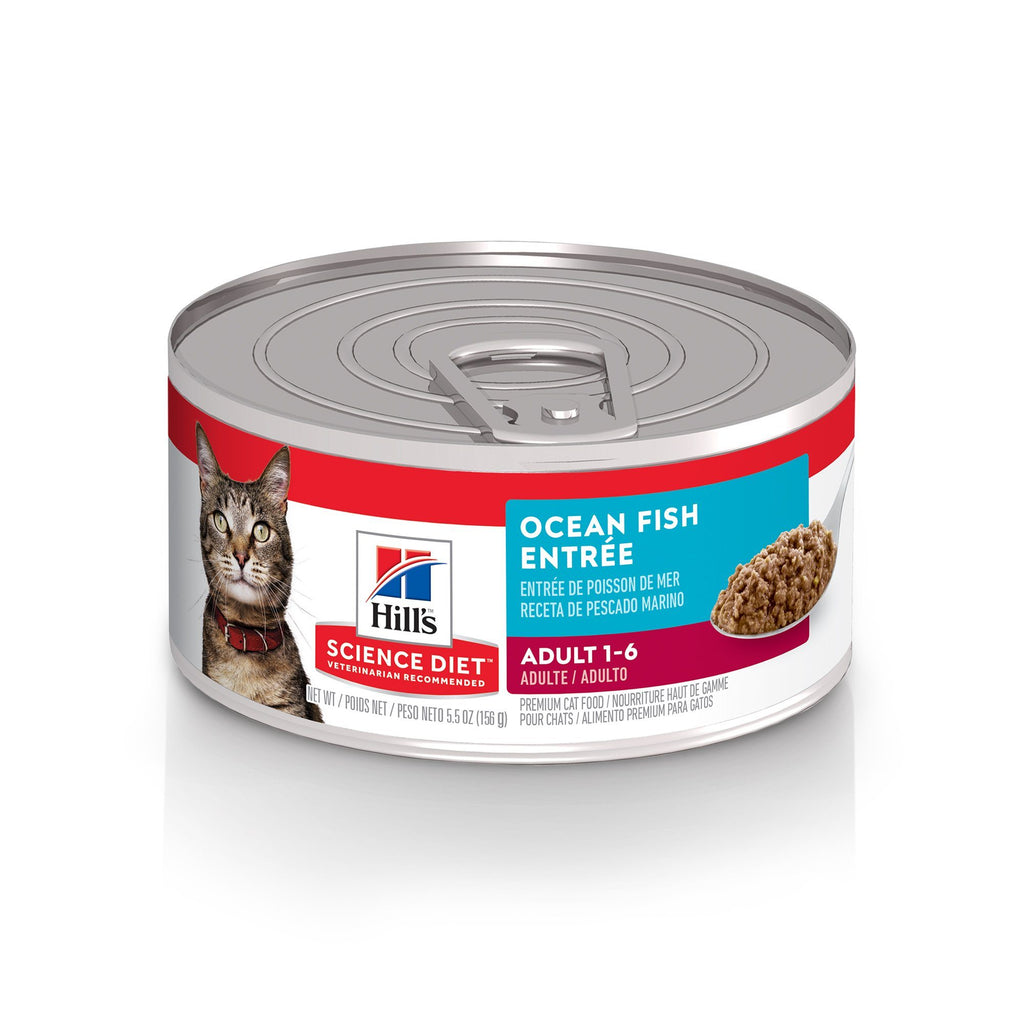 Science Diet Canned Cat Food Adult Ocean Fish  Canned Cat Food - PetMax