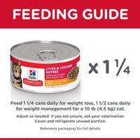 Hill's Science Diet Adult Light Liver & Chicken Canned Cat Food Canned Cat Food [variant_title] [option1] - PetMax.ca