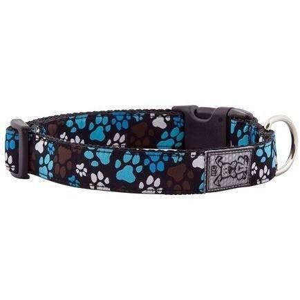 RC Dog Adjustable Collar Pattern Chocolate Paws