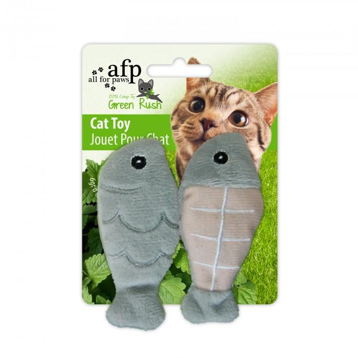 All For Paws Cat Toy Catch Of The Day 2 Pack Grey Cat Toys - PetMax