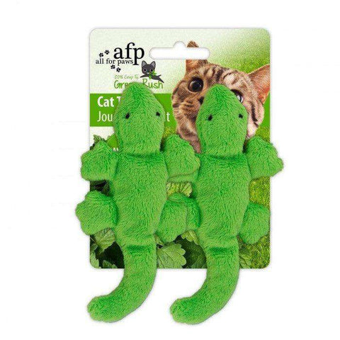 All For Paws Cat Toy Gecko 2 Pack