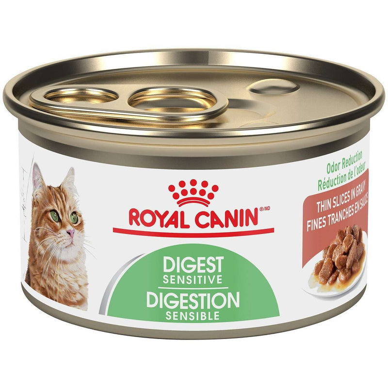 Royal Canin Canned Cat Food Digest Sensitive Thin Slices In Gravy  Canned Cat Food - PetMax