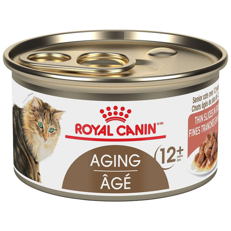 Royal Canin Canned Cat Food Aging 12+ Thin Slices In Gravy  Canned Cat Food - PetMax