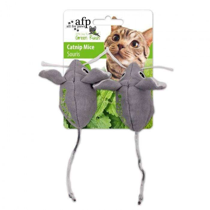All For Paws Cat Toy Green Rush Mice 2 Pack  Cat Toys - PetMax