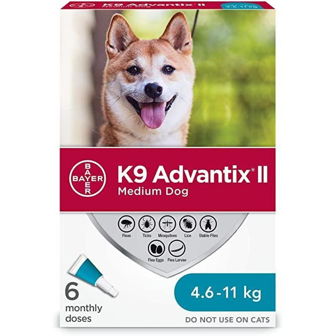 K9 Advantix II Medium Dogs 4.6Kg - 11Kg / 6 Pack Dog Flea & Tick - PetMax