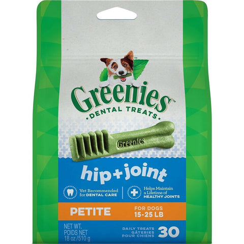 Greenies Hip & Joint Care Petite, Dog Treats, Greenies - PetMax