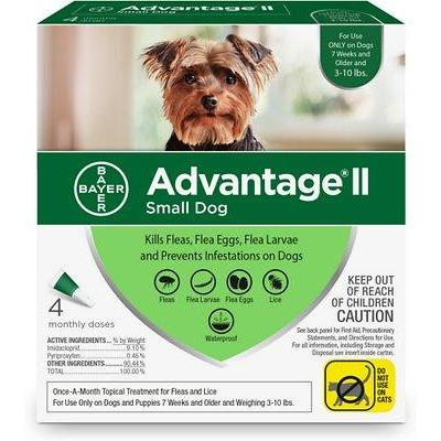 Advantage II For Small Dogs Under 4.5Kg / 4 Pack Dog Flea & Tick - PetMax
