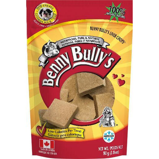 Benny Bullies Beef Liver Chops Dog Treats  Dog Treats - PetMax