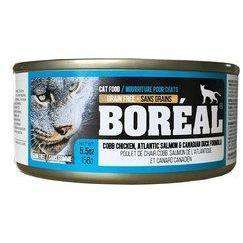 Boreal Canned Cat Food Adult Cobb Chicken, Canadian Duck & Atlantic Salmon, Canned Cat Food, Boreal Pet Food - PetMax Canada