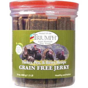 Triumph Grain Free Jerky Turkey, Pea & Berry | Dog Treats -  pet-max.myshopify.com