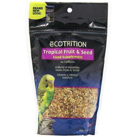 8 In 1 Ecotrition Parakeet Tropical Fruit & Seed, Bird Treats, 8 in1 Pet Products, Inc. - PetMax