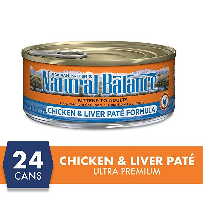 Natural Balance Canned Cat Food Chicken & Liver - Case of 24 | Canned Cat Food -  pet-max.myshopify.com