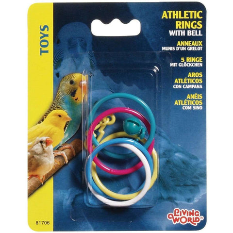 Living World Classic Athletic Rings With Bell, Bird Toys, Rolf C Hagen Inc. - PetMax Canada