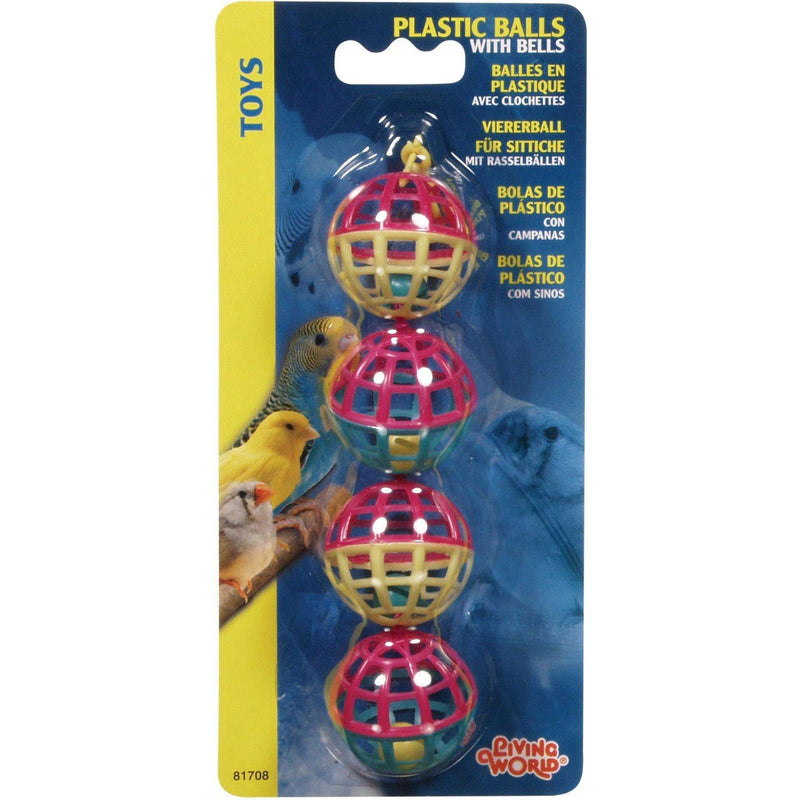 Living World Classic Plastic Balls  Bird Toys - PetMax