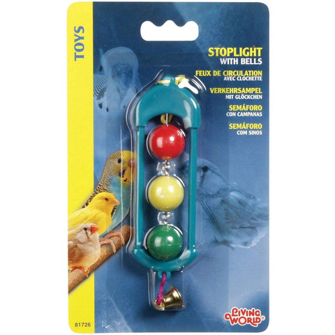 Living World Classic Heart Stoplight With Bells, Bird Toys, Rolf C Hagen Inc. - PetMax Canada