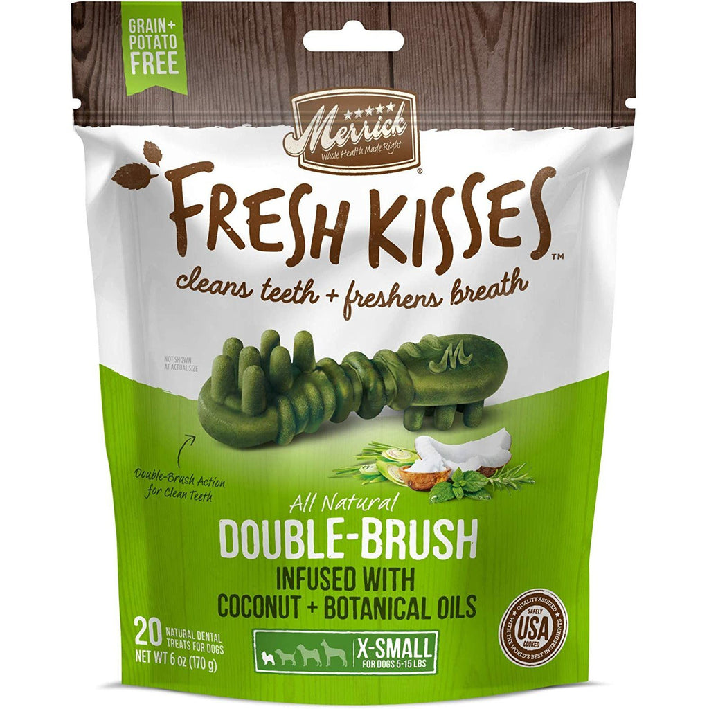 Merrick Fresh Kisses Coconut Brush - Bag X-Small Dog Treats - PetMax