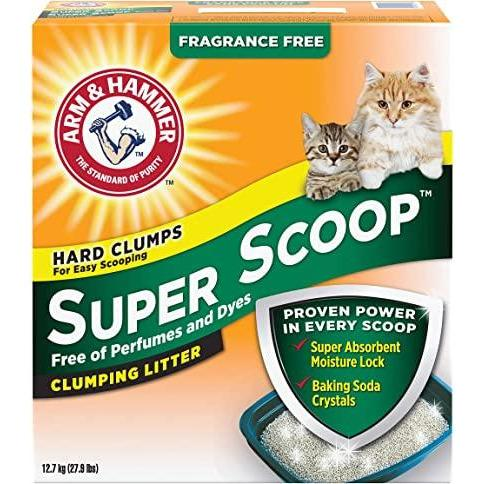 Arm & Hammer Super Scoop Fragrance Free [variant_title] [option1] | Cat Litter Arm & Hammer -  pet-max.myshopify.com
