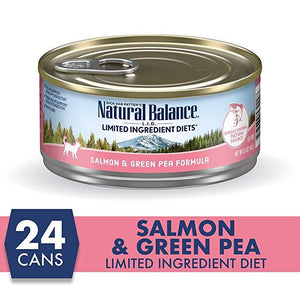 Natural Balance Canned Cat Food Salmon & Green Pea - Case of 24 | Canned Cat Food -  pet-max.myshopify.com
