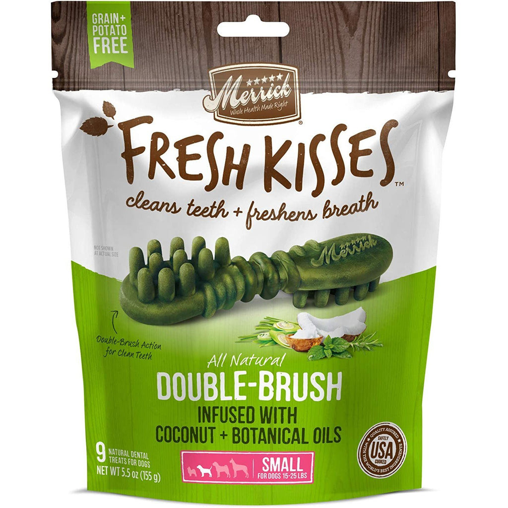 Merrick Fresh Kisses Coconut Brush - Bag Small Dog Treats - PetMax