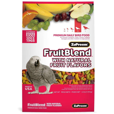 Zupreem Fruit Blend Parrots & Conures, Bird Food, Zupreem Premium Nutritional Product - PetMax