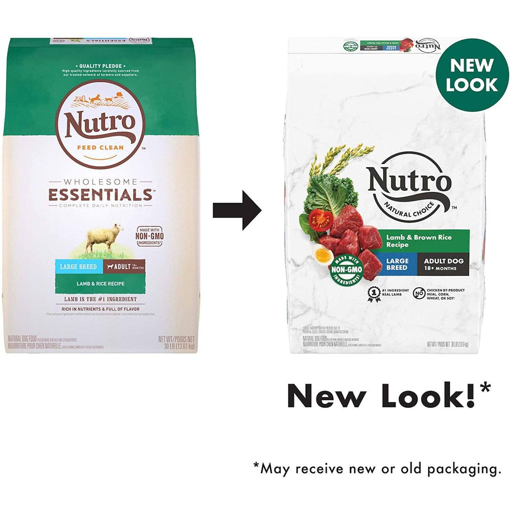 Nutro Wholesome Essentials Dog Food Large Breed Adult Lamb  Dog Food - PetMax