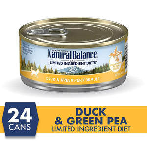 Natural Balance Canned Cat Food Duck & Green Pea - Case of 24 | Canned Cat Food -  pet-max.myshopify.com